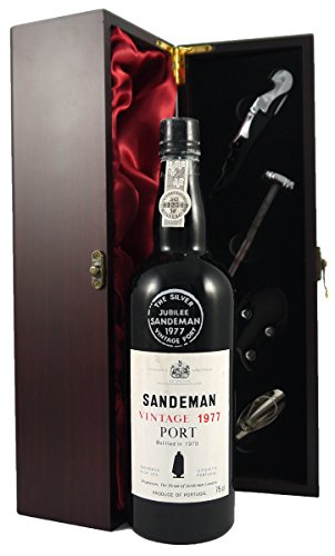 Sandeman-1977-Vintage-Port-in-a-silk-lined-presentation-box-with-four-wine-accessories