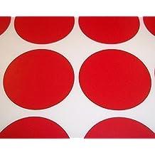 Pack de 100 pegatinas redondas de colores de Audioprint Ltd. para precios - 38mm, Rojo