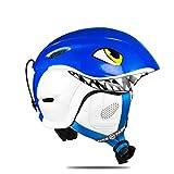 A&BERR 4 Kinder Skihelm Roller-Skating Skateboard Eishockey Snowboard Helm Schnelles Moto-Bike Reiten Radfahren Klettern Sport Sicherheit Blue S