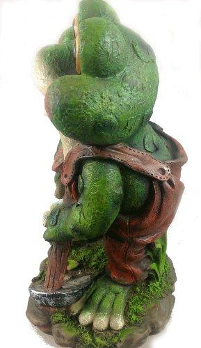 Design 1 Frosch XXL 33 cm Hoch 11149-1 Deko Garten Gartenzwerg Figuren Dekoration - 4