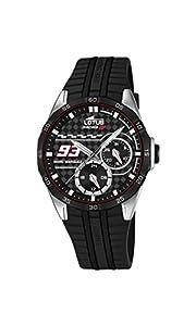 Lotus Marc Marquez Racing GP 18260/4 - Reloj de pulsera, multifunción, acero inoxidable, Negro