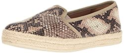 Clarks Womens Azella Theoni Slip-On Loafer, Beige Synthetic Snake Print, 9.5 M US