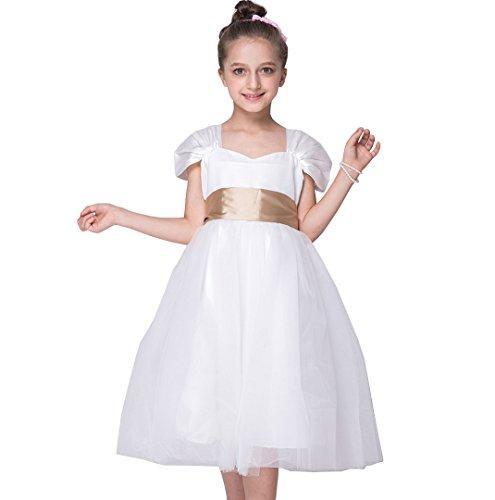 Das beste Mädchen Kleid Festkleid Taille Band Tee -