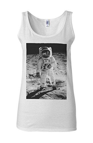 Spaceman Astronaut Space Galaxy Novelty White Femme Women Tricot de Corps Tank Top Vest **Blanc