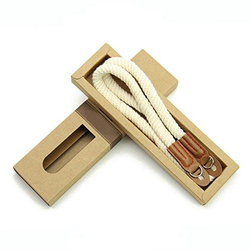LXH Handmade Cotton Leather Camera Neck Strap Schultergurt für Sony A6500 A6000 A6300 (kurzer Gurt cremeweiß) - Strap Kamera Neck Sony