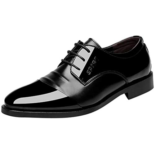 KonJin Leather Suit Shoes Fashion Casual Comfortable Wedding Shoe Male Business Leather Suit Shoes