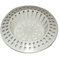 2 X White Plastic Sink Strainer Filter Size Small Or Large (Large)
