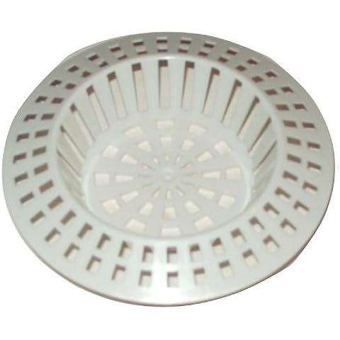 2 filtri in plastica per lavello, colore: bianco, misure disponibili: S/L, plastica, small