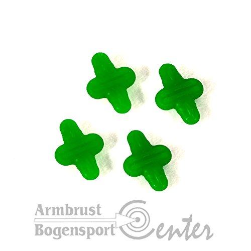 LIMBSAVER Everlast String Leech, Sehnendämfer für Bogensehne 4er Pack in grün