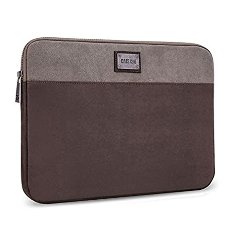 CAISON Suede Laptop Sleeve Case Protector Cover Bag For 12.5