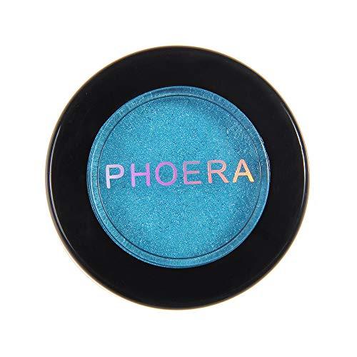 Cwemimifa Natural Eyeshadow Palette,PHOERA Glitter Shimmering Colors Lidschatten Metallic Eye Cosmetic,Schwarz -