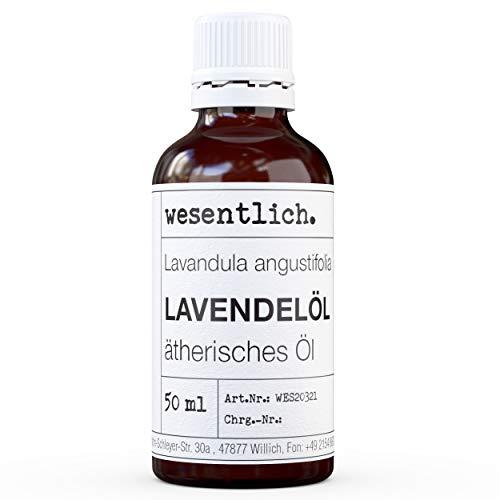 wesentlich. Lavendelöl - ätherisches Öl - 100% naturrein - u.a. für Duftlampe und Diffuser (50ml...