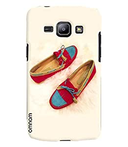 Omnam Beautiful Pair Of Belly Lying On White Feather Printed Designer Back Cover Case For Samsung Galaxy J1
