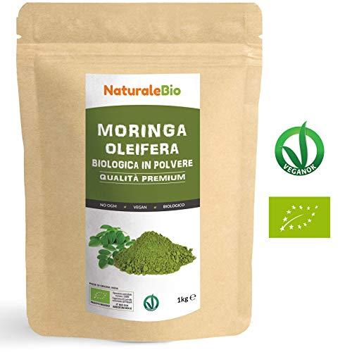 Moringa Oleifera Bio in Polvere [ Qualità Premium ] 1kg. 100% Biologica, Naturale e Pura. Foglie Raccolte dalla Pianta di...