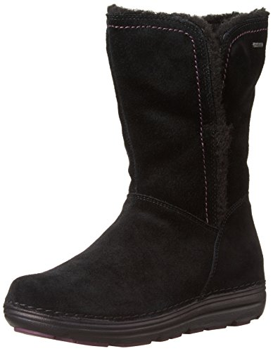 Clarks Nelia Net GTX Womens stivali in camoscio nero Black Suede