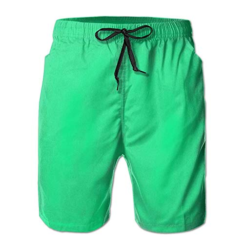 Dc Mens Dress (Bright Watercolor Mermaid Scales Men's Beach Pants Swimming Trunks Quick Dry Boardshorts with Mesh Lining)