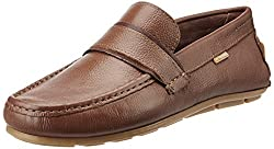 U.S. Polo Assn. Mens Tan Leather Loafers and Moccasins - 6 UK/India (40 EU)