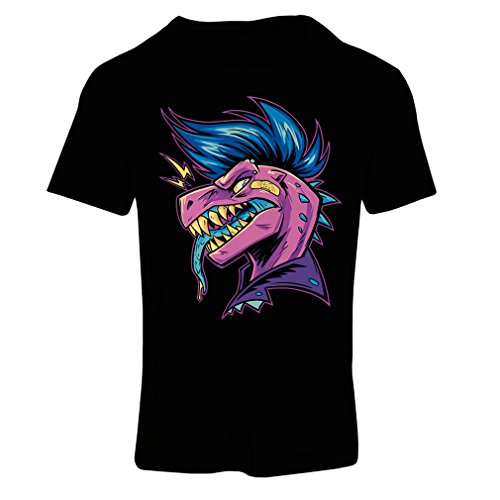 lepni.me Frauen T-Shirt Punk Rock - Punk ist Nicht Tot, Stil der 60er, 70er, 80er Jahre (Large Schwarz ()