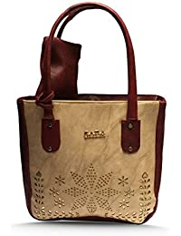 Latest Beautiful & Stylish Leather Hand Bag With Free Brown Leather Pouch For Girls, Ladies And Women