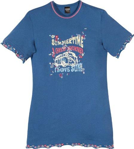 Preisvergleich Produktbild Schiesser Mädchen Big-Shirt 133953, blau, 140