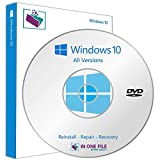 Windows 10 Professional 32/64 bit| Boot | Recovery | Restore DVD Disc Disk Perfect for Install or Reinstall of Windows