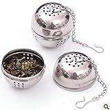 Condimento Bulbo Palla da tè, Sacchetto di Condimento in Acciaio Inox Forniture da Cucina Lampadina Zuppa di tè Palla Spezie Calde Alogene Filtro Palla Cucina Gadget