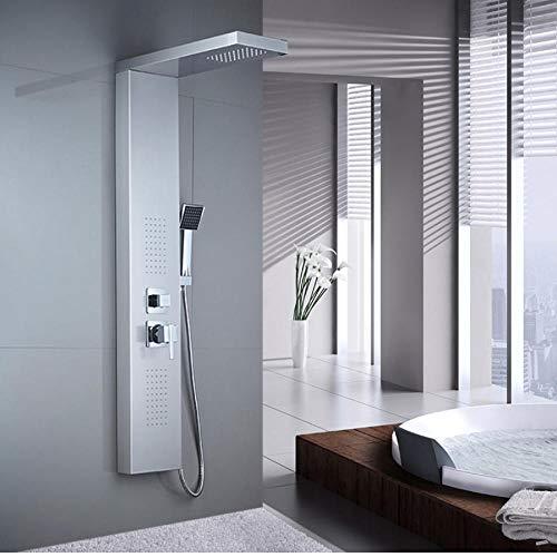 Bad Duschpaneel 304 Edelstahl Bad Duschset mit Handbrause Wandmontage Duscharmaturen