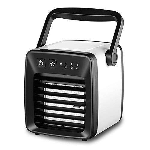 Funnyrunstore Réfrigérateur petit air conditionné mini portable petit ventilateur chambre air climatisé ventilateur lit USB pour étudiants ventilateur froid, noir, Funnyrunstore-0708