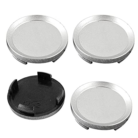 sourcingmap® 4 Pcs Car Hood Emblem Wheel Center Hub Caps Covers Gray 62mm Dia 4 Lug