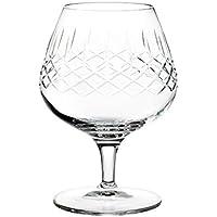 """Calice da Cognac in cristallo cl 40 con LAVORAZIONE ARTIGIANALE a """"RETE FIAMMA"""" – Set 2 pezzi"""