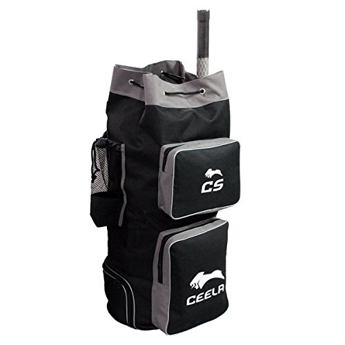 Ceela Sports Ceela_198 Polyester Cricket Duffle Bag (Black)