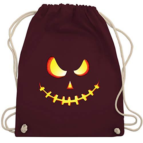 Halloween - Gruseliges Kürbis-Gesicht - Unisize - Bordeauxrot - WM110 - Turnbeutel & Gym ()