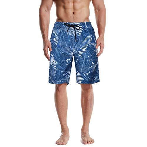 Pantalones de Playa Hawaianos Pantalones Cortos con Estampado 3D para Hombre Verano Casual Moda bañador...