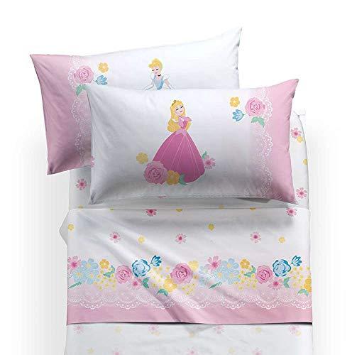 Lenzuola 1 Piazza E Mezza Caleffi.Caleffi Completo Lenzuola Letto 1 Piazza E Mezza Disney Princess Romantic