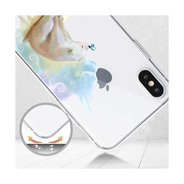 Oihxse Compatible with iPhone XR 6.1'' Case Cover Crystal Clear Ultra Slim Lightweight Soft TPU Gel Bumper, Chic Fashion Pattern Design Transparent [Original Beauty] Shockproof Skin, White Bear Oihxse ✨【SLIM FIT】ONLY compatible with iPhone XR without bubbles, bubbles smudges, slippy and clinging, which provide a great hand feel & comfortable grip, easy put in and take off from pockets. ✨【CRYSTAL CLEAR】Cute and stylish pattern prints on the crystal transparent slim IPhone XR case, not only shows off the original beauty but adds more chic, fashion and elegant sense, makes you stand out from crowd and eye-catching. ✨【PREMIUM MATERIAL】Made from nontoxic and tasteless flexible TPU material, non fade and peel off. It can resist Iphone XR bumps, drops, scratches, impacts, shocks and fingerprint. 6