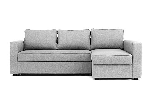 Boston Corner Sofa Bed with Storage in Grey – Right Hand | Cheap ...