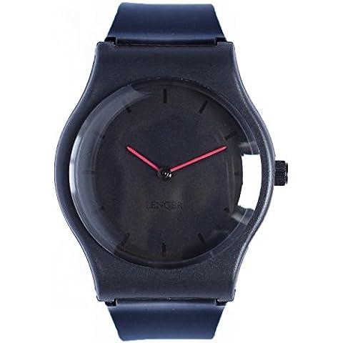 Orologio Lenger analogico–Giallo–movimento quarzo giapponese–Semplice, minimalista–Waterproof 3ATM–Quadrante e cinturino in resina