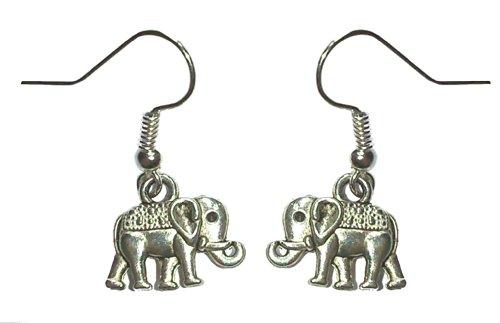 Juego de pendientes de tamaño pequeño disfraz de elefantes