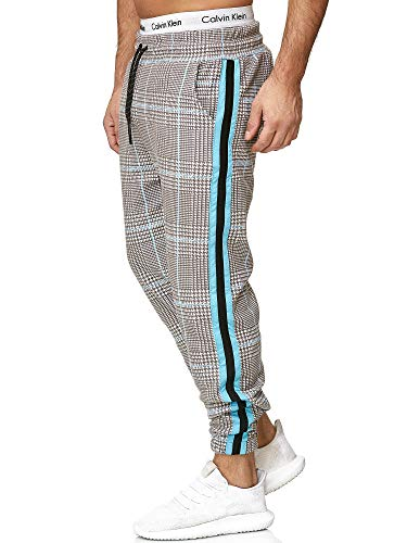 OneRedox Herren | Jogginghose | Trainingshose | Sport Fitness | Gym | Training | Slim Fit | Sweatpants Streifen | Jogging-Hose | Stripe...