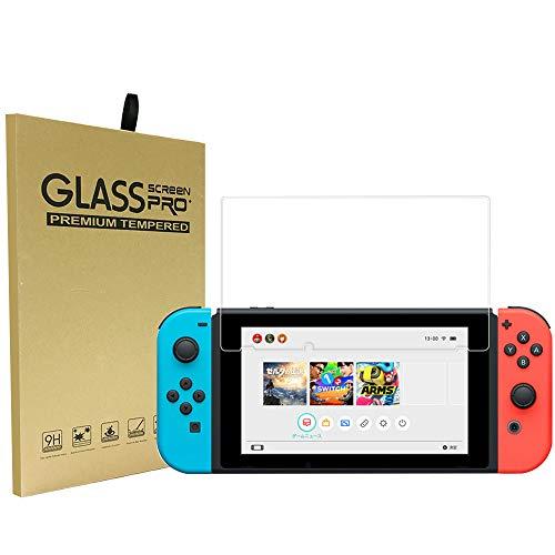Nintendo Switch Displayschutzfolie, Nintendo Switch, gehärtete Membran, Kratzfest, volle Abdeckung, HD klar, 9H Folie, Oberflächenhärte, gehärtetes Glas für Nintendo Switch durchsichtig