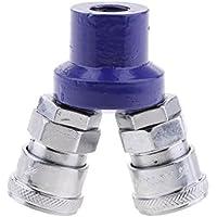 Sharplace Acoplador Rápido Manguera de Aire Tipo C Tarticulación Metal Horquilla Anterior Equipadas Macho Metálico - 2 Way Joint