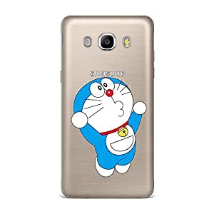 Qrioh Printed Designer Back Case Cover for Samsung J5 2016 - Doraemon Transparent