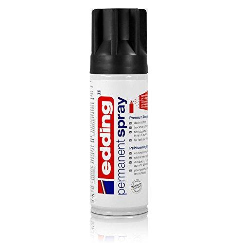 edding Permanent Spray tiefschwarz matt 200 ml Premium Acryllack, RAL 9005