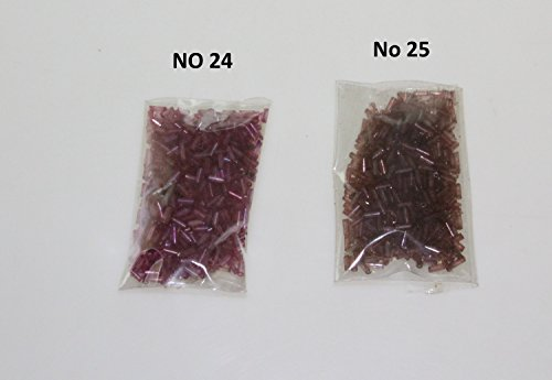 Purple Violet Lilac Plum 4mm Bugle Beads – Sewing Craft Jewellery Making Embroidery Beading Art (No ()