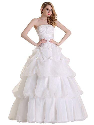 Austen – 3857 Brautkleid mit Rückenschnürung Weiß Gr.42