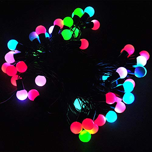 Solar Ball Light 50Leds Waterproof Outdoor Colorful Bulbs Automatically Change Seven Colors String Lights Festival Decoration Outdoor Indoor Christmas Tree Windows Home Room Vases Garden Decoration