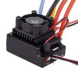 Dilwe Brushless Contrôleur de Vitesse Professionnel RC, ESC 80A Sensored / Sensorless Ajustable Accessoire pour Voiture RC