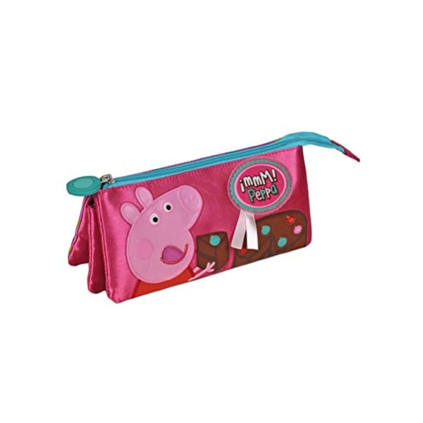 Peppa Pig – Portatodo Triple, 21 x 9 cm (Cerdá 2103/1449)