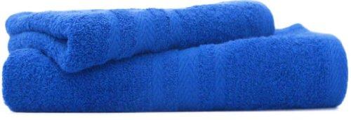 100% Pure Cotton Luxury Plain Royal Blue Face Cloth / Flannel - 550gsm, 30x30cms by Royal Sultan