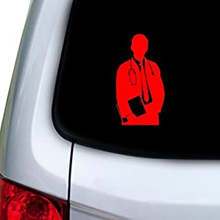 StickAny Car and Auto Decal Series Doctor Body Sticker for Windows, Doors, Hoods (Red)